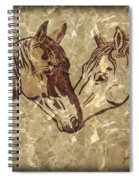 Horses On Marble Spiral Notebook