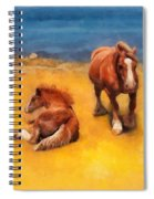 Horses On The Coast Of Brittany Spiral Notebook