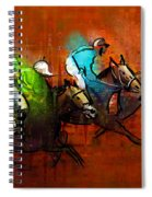 Horses Racing 01 Spiral Notebook
