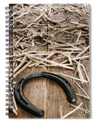 Horseshoe On Barn Floor Spiral Notebook
