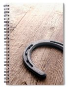 Horseshoe On Wood Floor Spiral Notebook