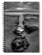 Horseshoes Beach  Black And White Spiral Notebook
