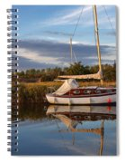 Horsey Mere In Evening Light Spiral Notebook