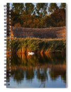Horsey Mere On The Norfolk Broads On A Still Day In Autumn Spiral Notebook