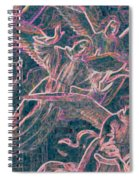 Host Of Angels Pink Spiral Notebook