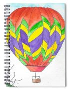 Hot Air Balloon 10 Spiral Notebook