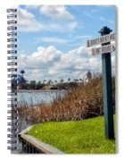 Hot Air Balloon And Old Key West Port Orleans Signage Disney World Spiral Notebook