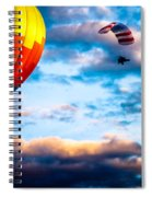 Hot Air Balloon And Powered Parachute Spiral Notebook