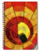 Hot Air Balloon Bottoms Up Photo Art Spiral Notebook