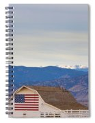 Hot Air Balloon Boulder Flag Barn And Eldora  Spiral Notebook