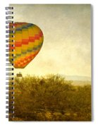 Hot Air Balloon Flight Over The Southwest Desert Fine Art Print  Spiral Notebook