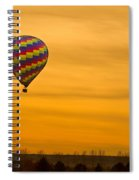 Hot Air Balloon In The Golden Sky Spiral Notebook