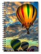 Hot Air Balloon Lift Off Spiral Notebook
