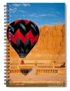 Hot Air Balloon Over Thebes Temple Spiral Notebook