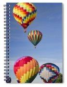 Hot Air Balloon Race Spiral Notebook