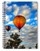 Hot Air Balloons Over Trees Spiral Notebook