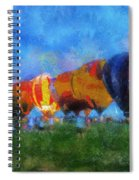 Hot Air Balloons Photo Art 01 Spiral Notebook