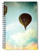 Hot Air Baloons In Blazing Sky Spiral Notebook