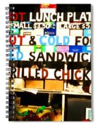 Hot And Cold Foods Spiral Notebook