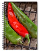 Hot And Spicy - Chiles On The Grill Spiral Notebook
