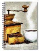 Hot Black Coffee Spiral Notebook