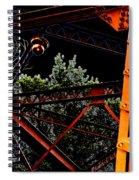 Hot Bridge At Night Spiral Notebook