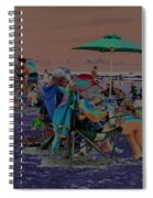 Hot Day At The Beach - Solarized Spiral Notebook
