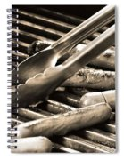 Hot Dogs On The Grill Spiral Notebook
