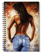 Hot Jeans 02 Blue Spiral Notebook