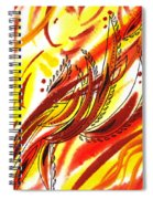 Hot Lines Twist Abstract Spiral Notebook