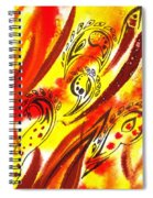 Hot Moving Lines And Dots Abstract Spiral Notebook