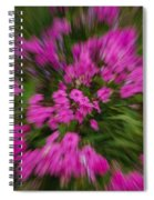 Hot Pink Flower Zoom Spiral Notebook