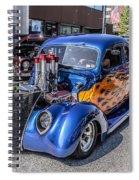 Hot Rod Car Spiral Notebook