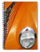 Hot Rod Headlight Spiral Notebook