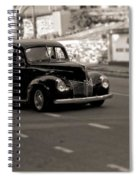 Hot Rod On The Street Spiral Notebook