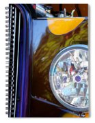 Hot Rod Show Car Light Spiral Notebook