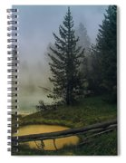Hot Springs At West Thumb Spiral Notebook