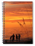 Hot Sunset Spiral Notebook
