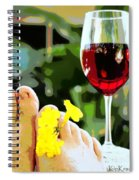 Hot Tub Life Spiral Notebook