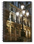 Hotel De Ville In Paris Spiral Notebook