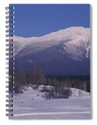 Hotel Near Snow Covered Mountains, Mt Spiral Notebook