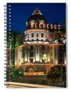 Hotel Negresco By Night Spiral Notebook