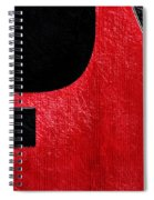 Hour Glass Guitar 4 Colors 1 - Tetraptych - Red Corner - Music - Abstract Spiral Notebook