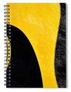 Hour Glass Guitar 4 Colors 1 - Tetraptych - Yellow Corner - Music - Abstract Spiral Notebook