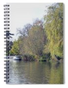 House Boat On River Avon Spiral Notebook