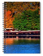 House Boat River Barge In France Spiral Notebook