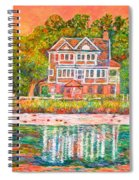 House By The Tidal Creek At Pawleys Island Spiral Notebook