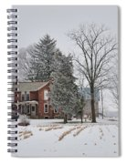 House In Winter Spiral Notebook
