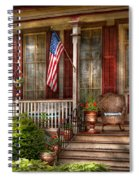 House - Porch - Belvidere Nj - A Classic American Home  Spiral Notebook