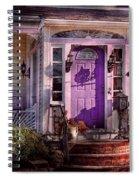 House - Porch - Cranford Nj - Lovely In Lavender  Spiral Notebook